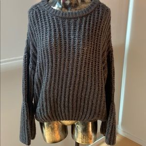 Sweaters - Bell Sleeve Chunky Knit Fall Sweater